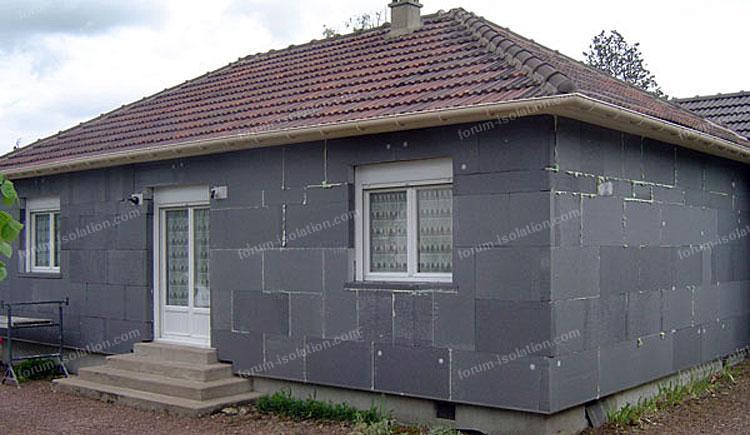 isolation par l'extérieur maison
